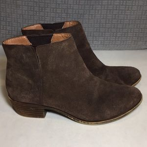 Lucky Brand Brown Suede Benissa Boots Size 10